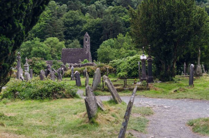 Glendalough - irský klášter a hřbitov
