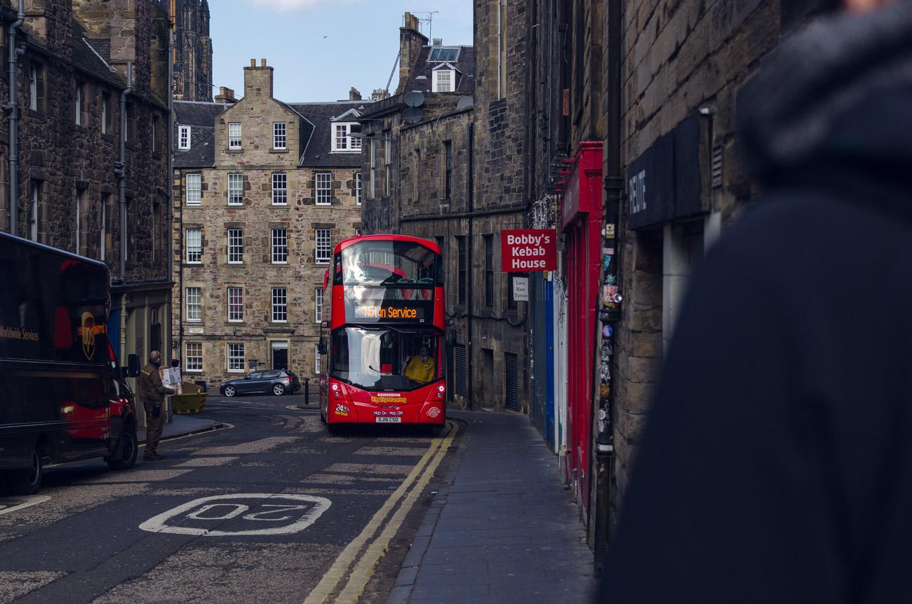 Edinburgh, Skotsko - autobus