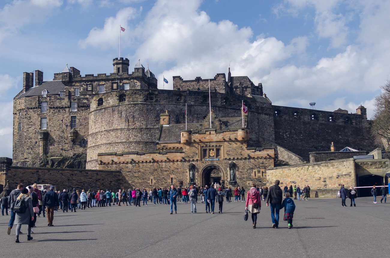 Edinburgh castle - hrad
