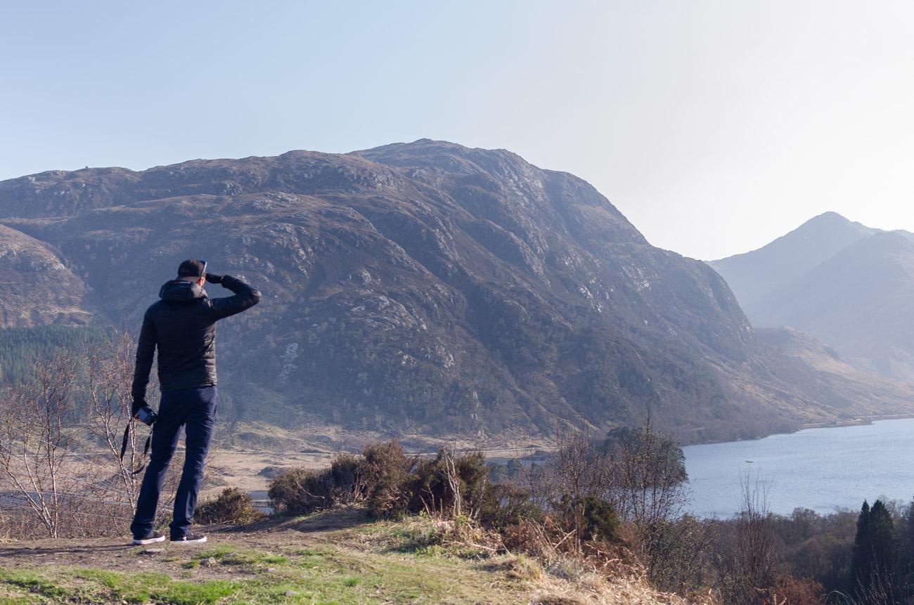 Glen Finnan ve Skotsku - pohled do Bradavic