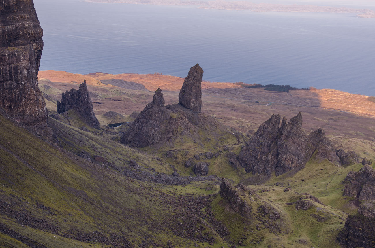 Isle of Skye - Old man of storr - okolí