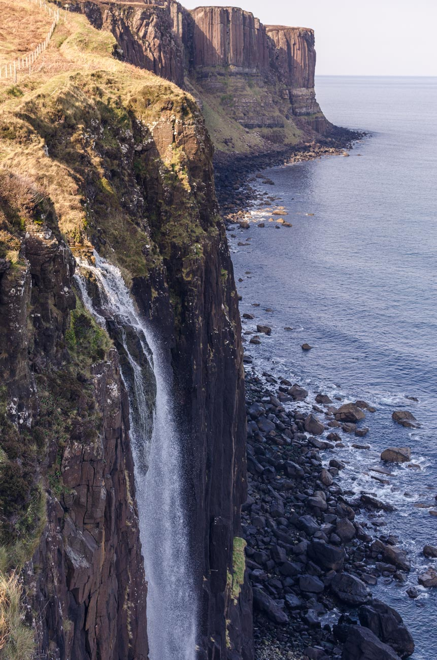 Mealt waterfall na Isle of Skye