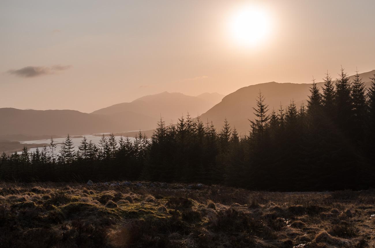 Skotsko - západ slunce